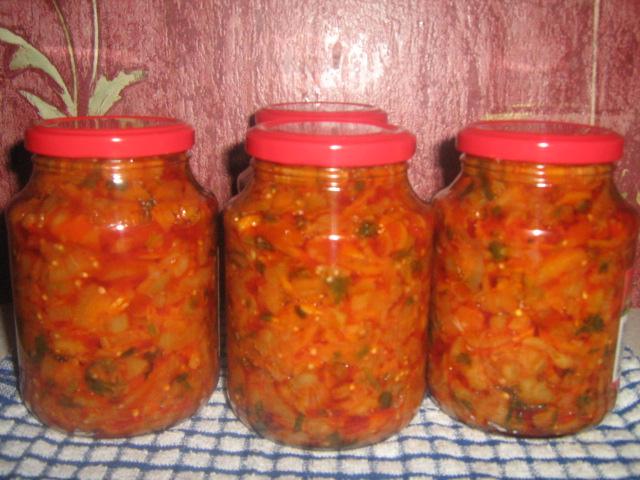 салаты на зиму из кабачков на зиму рецепты