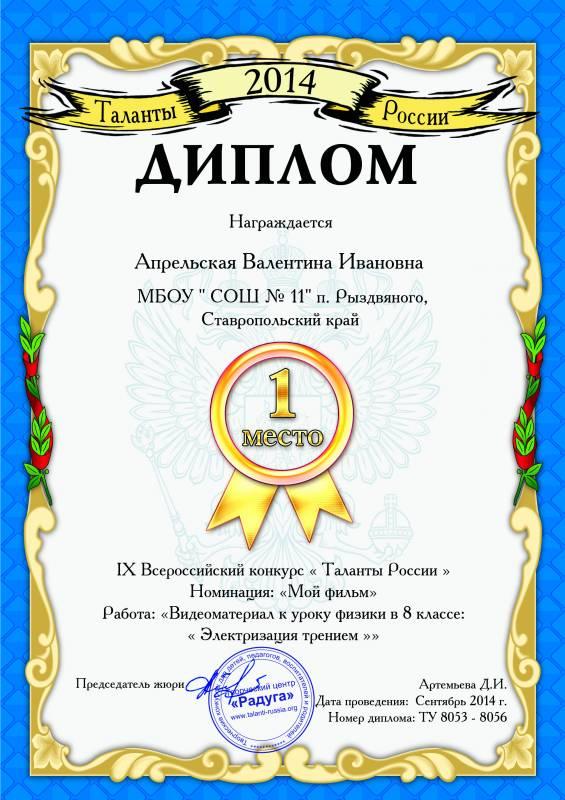 Конкурс таланты россии для воспитателей