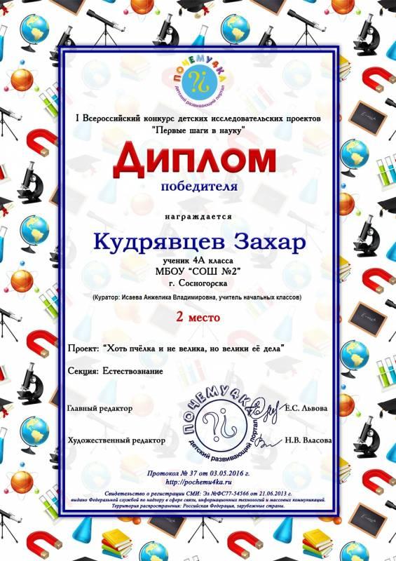Конкурс детских проектов всероссийский
